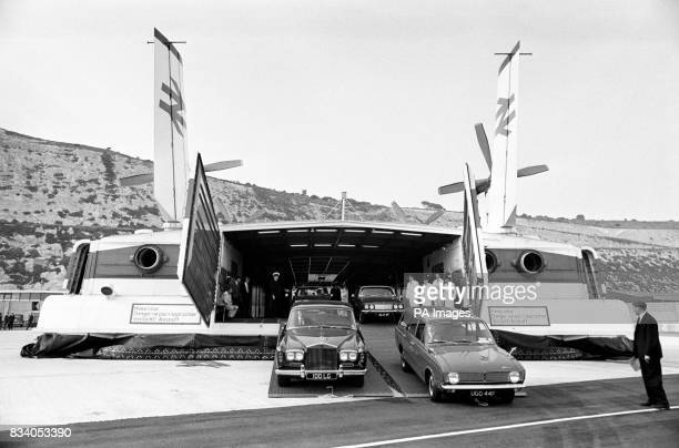 Britain's pioneer contribution to the development of modern transport finally comes of age when Princess Margaret inaugurates the cross channel...