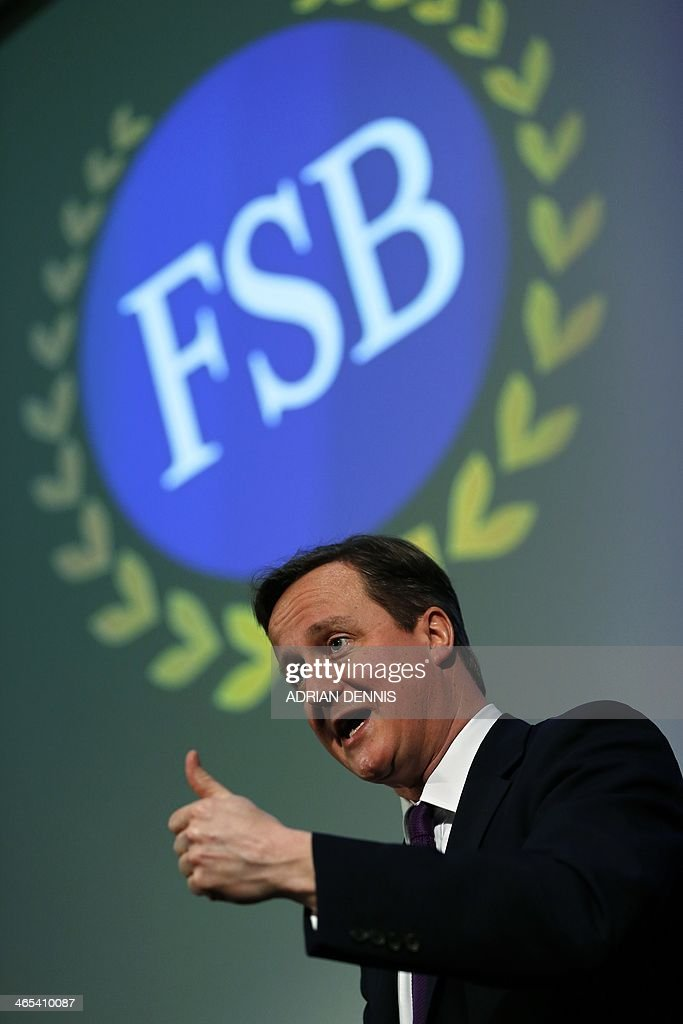 Britain's Prime Minister David Cameron gives a speech to the Federation of Small Business in London January 27, 2014. Cameron pledged to cut red tape to save money for small businesses in a speech to the Federation's national event in London.