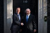 Britain's Prime Minister David Cameron greets Israeli Prime Minister Benjamin Netanyahu in Downing Street on September 10 2015 in London England Mr...