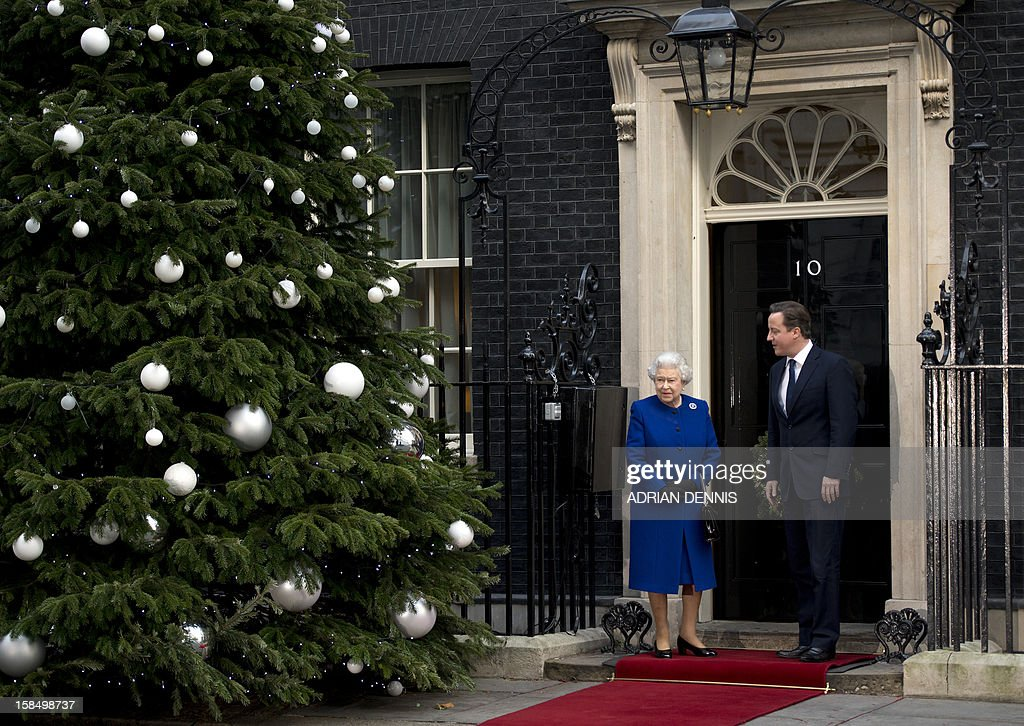 Britain's Prime Minister David Cameron greets Queen Elizabeth II outside No 10 Downing Street in London December 18, 2012 as she arrives to attend the meeting of the Cabinet. Queen Elizabeth II attended her first-ever cabinet meeting on Tuesday to mark her diamond jubilee, the only monarch to do so since 1781.The 86-year-old sovereign sat in as an observer on the meeting and received a gift from the Cabinet to celebrate her 60 years on the throne.