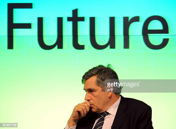 Britain's Prime Minister Gordon Brown speaks about the economy in central London on October 12 2009 British Prime Minister Gordon Brown announced on...