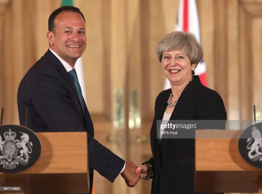 The Prime Minister Welcomes Ireland's New Taoiseach To Downing Street
