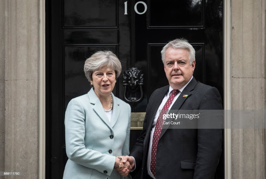 Prime Minister Theresa May Meets The First Minister Of Wales