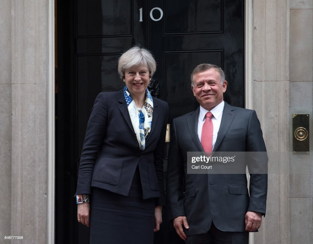British Prime Minister Hosts The King Of Jordan