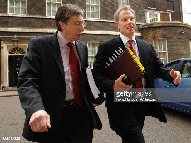Britain's Prime Minister Tony Blair and Keith Hill MP leave Downing Street Downing Street London for Prime Minister's Questions in the House of...