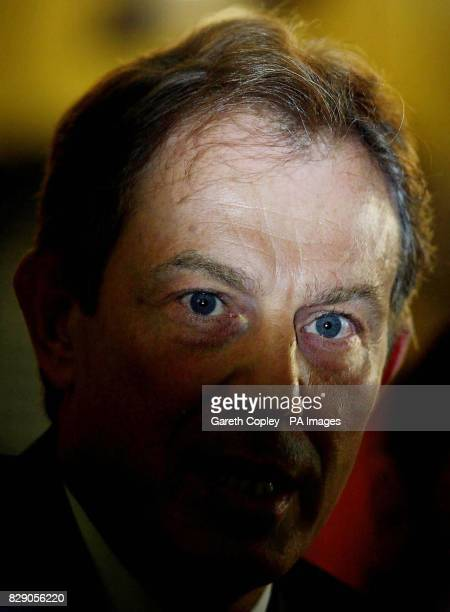 Britain's Prime Minister Tony Blair during a visit to Ecclesfield Police Station Sheffield Police would use lie detectors and satellitetracking to...