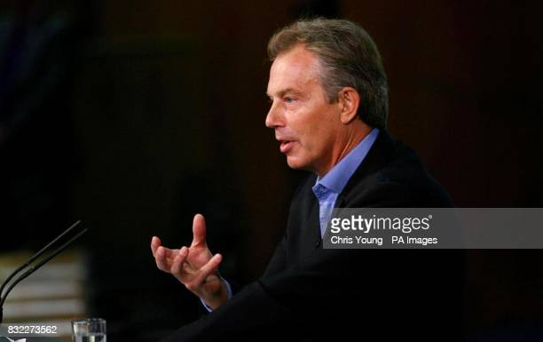 Britain's Prime Minister Tony Blair listens to questions following an address to the thinktank Progress conference in central London
