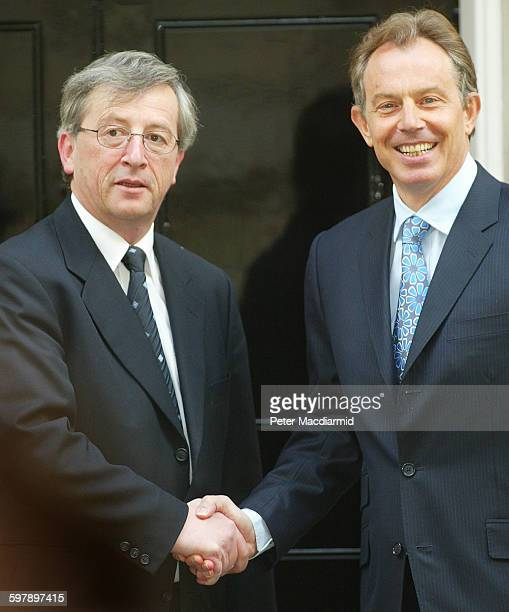 Britain's Prime Minister Tony Blair meets with Luxembourg's Prime Minister and Finance Minister JeanClaude Juncker in Downing Street London April 19...
