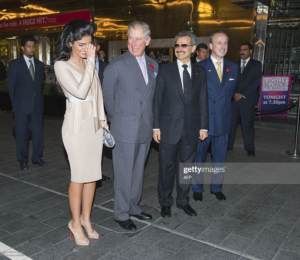 Britain�s Prince Charles (2ndL) laughs with Princess Amira (L), wife of hotel owner Prince Alwaleed Bin Talal (3rdL) before a tour during the official re-opening of the Savoy Hotel in London on November 2, 2010. London's first luxury hotel, which hosted luminairies from Marlene Dietrich to Claude Monet, has been renovated from top to bottom in a mammoth project costing 220 million pounds (250 million euros, 350 million dollars).