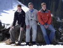 Britain's Prince Charles poses for a photograph with his sons Prince William and Prince Harry during their annual skiing holiday in the Swiss alps...