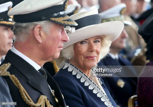 Britain's Prince Charles Prince of Wales and Camilla Duchess of Cornwall styled as the Duke and Duchess of Rothesay while in Scotland attend the...