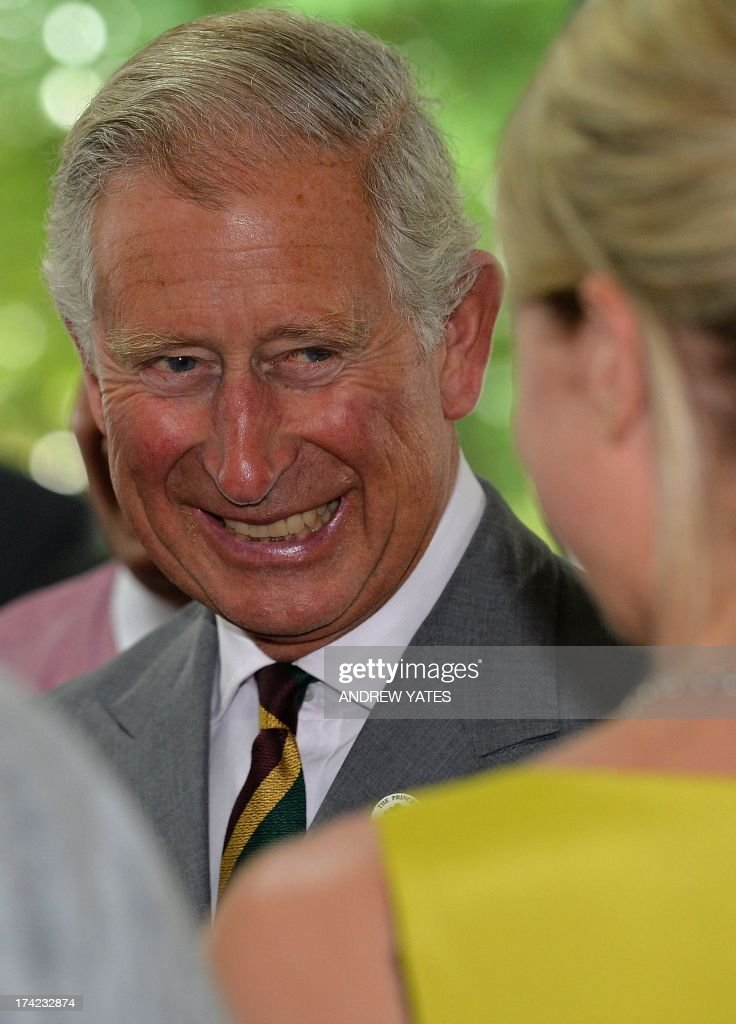 Britain's Prince Charles, Prince of Wales arrives at Dovecote Park in Pontefract, West Yorkshire on July 22, 2013. Prince William's wife Kate was admitted to hospital on Monday in the early stages of labour as the world awaited the birth of a baby directly in line to inherit the British throne. A global frenzy over the arrival of a new generation of British royalty reached fever pitch as the couple, both 31, was driven from Kensington Palace to a plush London hospital suite at around 6:00am (0500 GMT).