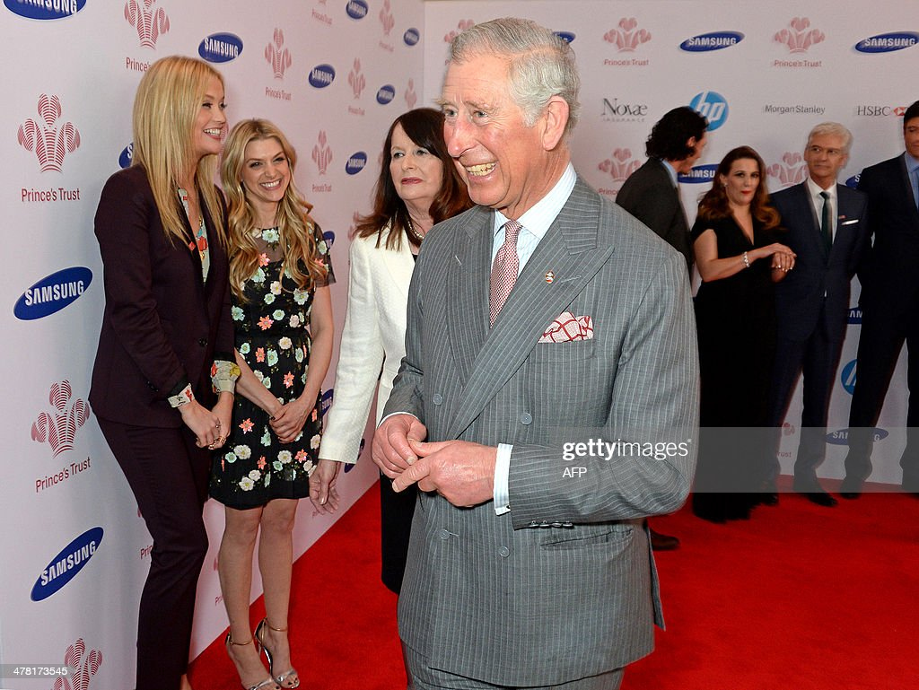 Britain's Prince Charles, Prince of Wales attends Prince's Trust & Samsung Celebrate Success Awards at Odeon Leicester Square in Central London on March 12, 2014.