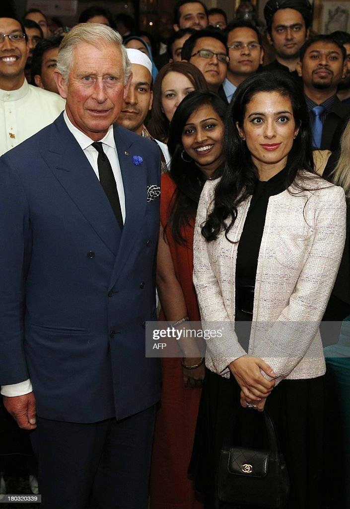 Britain's Prince Charles, Prince of Wales, president and founder of Mosaic (L), hosts a reception for participants in the Mosaic Leadership Programme alongside Jordan's Princess Badiya bint el-Hassan (R) at Clarence House in central London on September 11, 2013. The Mosaic Leadership Programme aims to develop leadership ability, an understanding of key global issues and to equip delegates to become active and positive leaders in their local community.