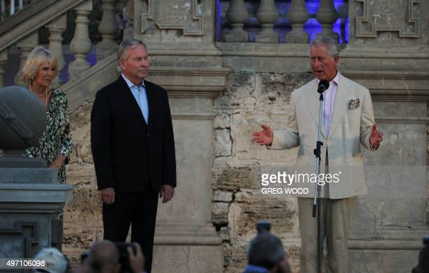 Britain's Prince Charles speaks to express solidarity with France after attacks in Paris claimed the lives of more than 120 people at a special...