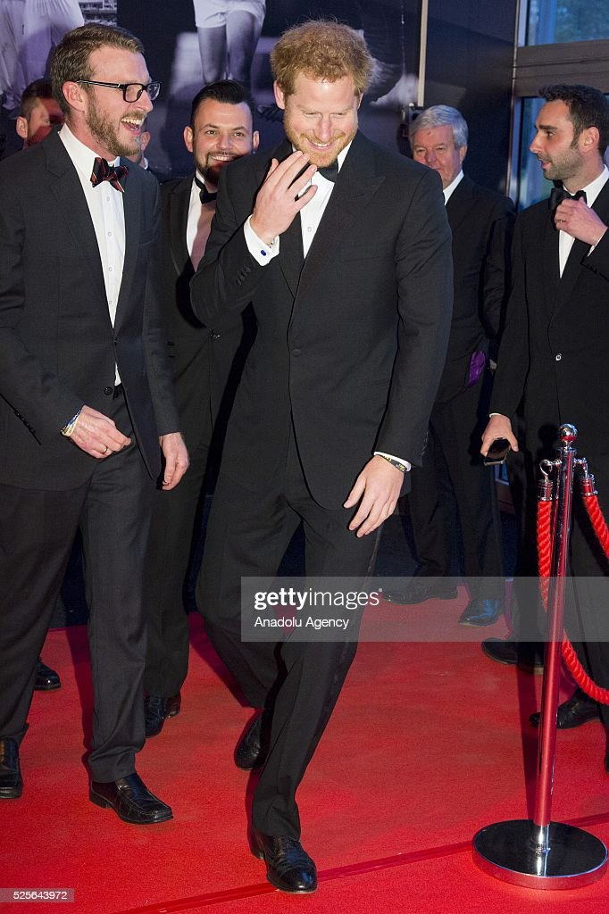 Britain's Prince Harry attends the BT Sport Industry Awards 2016 in London, United Kingdom on April 28, 2016.