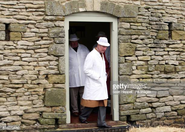 Britain's Prince of Wales Patron of the Mutton Renaissance Campaign leaves for a meeting with farmers chefs and business leaders to celebrate the...