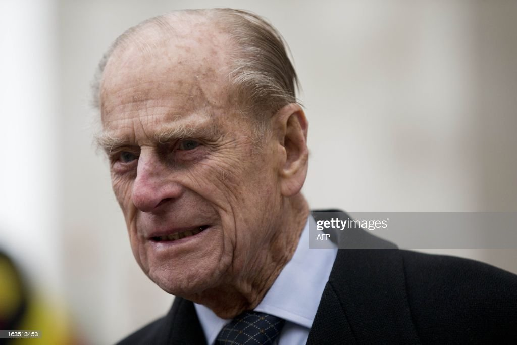 Britain's Prince Philip, the Duke of Edinburgh leaves the Commonwealth Day Observance at Westminster Abbey in London on March 11, 2013. Britain's Queen Elizabeth II missed the Commonwealth Day service in London as she is still recovering from the symptoms of gastroenteritis, Buckingham Palace said. Her 91-year-old husband Prince Philip represented her at the service, which was attended by Commonwealth ambassadors, or high commissioners, from around the world and featured an address from Virgin tycoon Richard Branson. AFP PHOTO/POOL/Matt Dunham