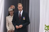 Britain's Prince William and wife Catherine attend on August 4 2014 in Liège Belgium commemorations marking 100 years since the invasion of Belgium...