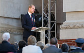 Britain's Prince William delivers a speech during the commemoration of the 100th anniversary of the Battle of the Somme the deadliest battle in...