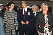 Britain's Prince William Duke of Cambridge and his wife Catherine Duchess of Cambridge attend the commemoration of the 100th anniversary of the...