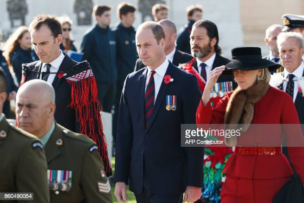 Britain's Prince William Duke of Cambridge and Princess Astrid of Belgium attend a commemoration at the Tyne Cot Commonwealth War Graves Cemetery for...