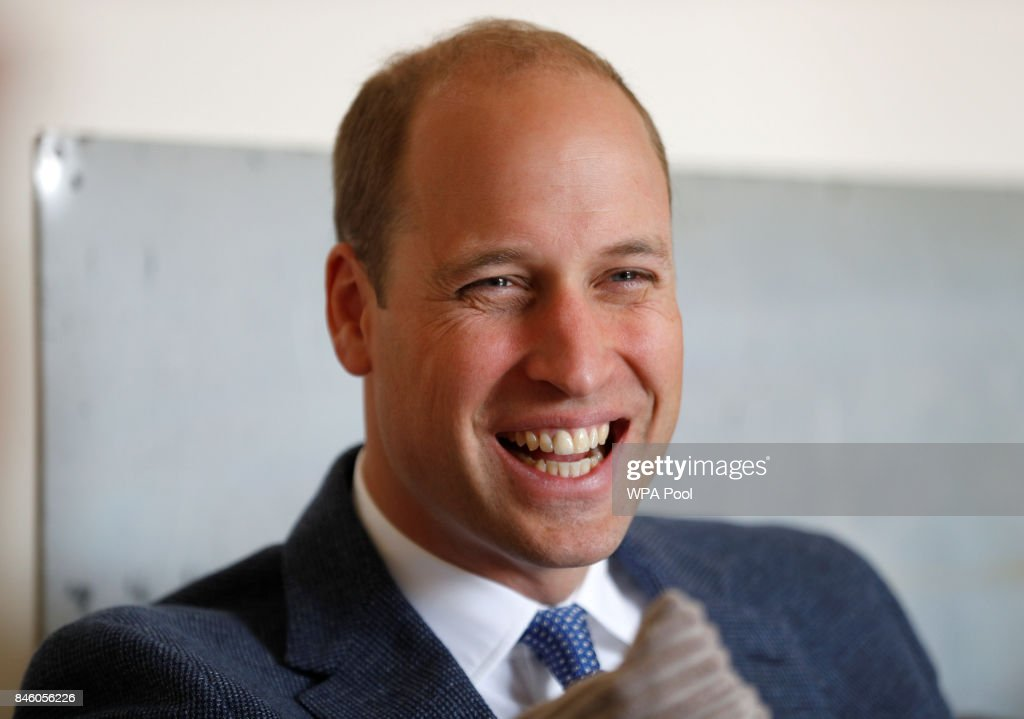 Britain's Prince William, Duke of Cambridge attends discussion with staff of the charity Sporting Chances, at their residential centre on September 12, 2017 in Liphook, United Kingdom.
