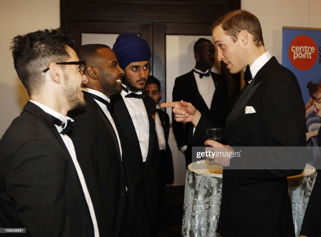 Britain's Prince William, Duke of Cambridge (R) greets people from the homeless charity Centrepoint, at the Winter Whites Gala in aid of the Centrepoint charity at the Royal Albert Hall in central London on December 8, 2012. The Prince attended the gala in aid of the charity of which he is patron. The London hospital that treated Prince William's pregnant wife Catherine and where a nurse was found dead after being hoaxed by an Australian radio show on Saturday wrote to the station condemning the 'truly appalling' stunt.
