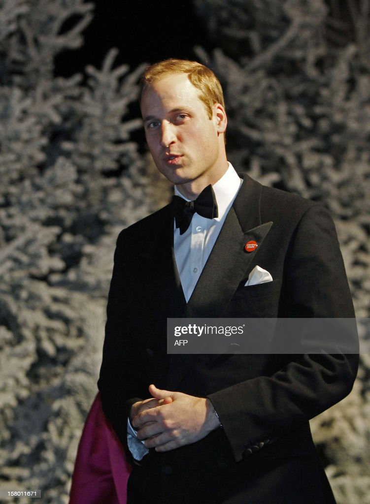 Britain's Prince William, Duke of Cambridge (R), leaves the Winter Whites Gala in aid of the Centrepoint charity at the Royal Albert Hall in central London on December 8, 2012. The Prince attended the gala in aid of the charity of which he is patron. The London hospital that treated Prince William's pregnant wife Catherine and where a nurse was found dead after being hoaxed by an Australian radio show on Saturday wrote to the station condemning the 'truly appalling' stunt.
