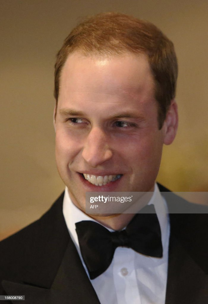 Britain's Prince William, Duke of Cambridge smiles after arriving at the Winter Whites Gala in aid of the Centrepoint charity at the Royal Albert Hall in central London on December 8, 2012. The Prince attended the gala in aid of the charity of which he is patron. The London hospital that treated Prince William's pregnant wife Catherine and where a nurse was found dead after being hoaxed by an Australian radio show on Saturday wrote to the station condemning the 'truly appalling' stunt.