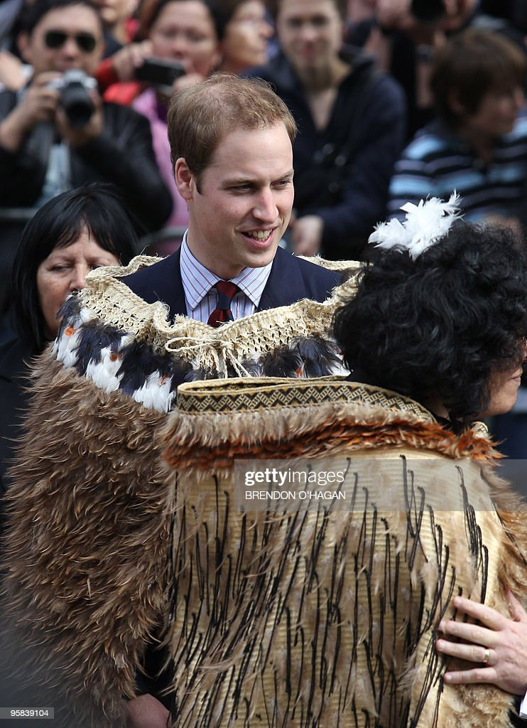 Britain's Prince William wears a tradional Maori Cloak upon arriving for the opening of the New Zealand new Supreme High Court in Wellington on January 18, 2019. William is here on a three day visit in his first official role for the Queen. AFP PHOTO/Brendon O'Hagan