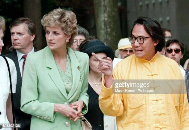 Britain's Princess of Wales tours the Biennale exhibition in Venice Italy Friday morning in the company of Hong Kong millionaire businessman David...