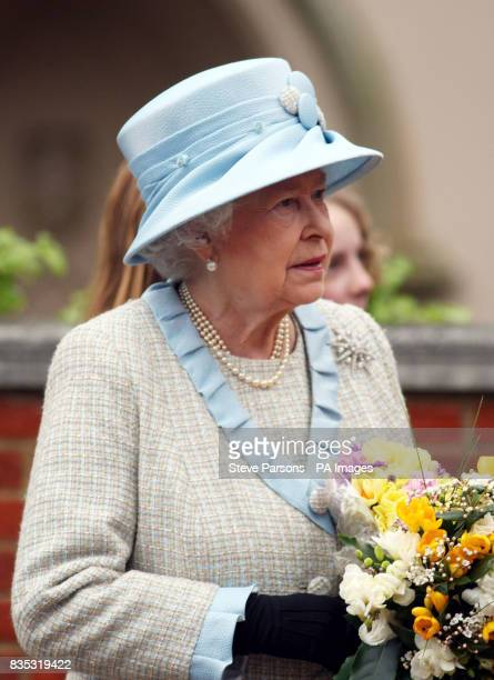 Britain's Queen Elizabeth II after the Easter Mattins service at St George's Chapel in the grounds of Windsor Castle Berkshire