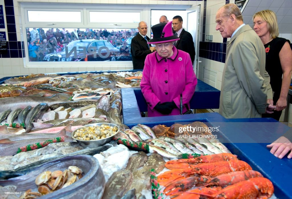 Elizabeth ii getty images for Fish market queens