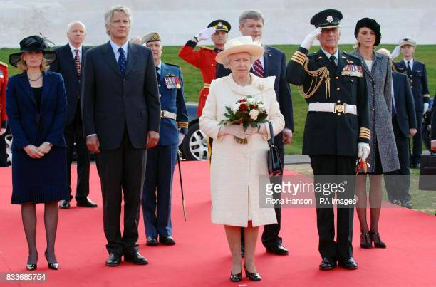 Britain's Queen Elizabeth II and the Duke of Edinburgh are joined by French Prime Minister Dominique de Villepin his wife MarieLaure Canadian Prime...