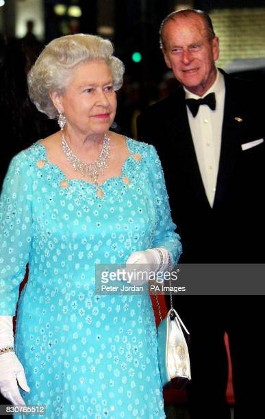 Britain's Queen Elizabeth II and the Duke of Edinburgh arrive for the Royal Variety Performance at the Dominion Theatre in London Headlining the...