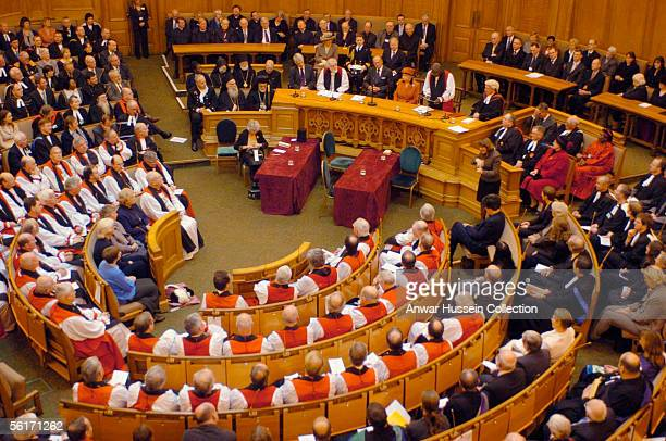 Britain's Queen Elizabeth II attends the Inauguration of the Eighth General Synod of the Church of England held at Church House in Westminster London...