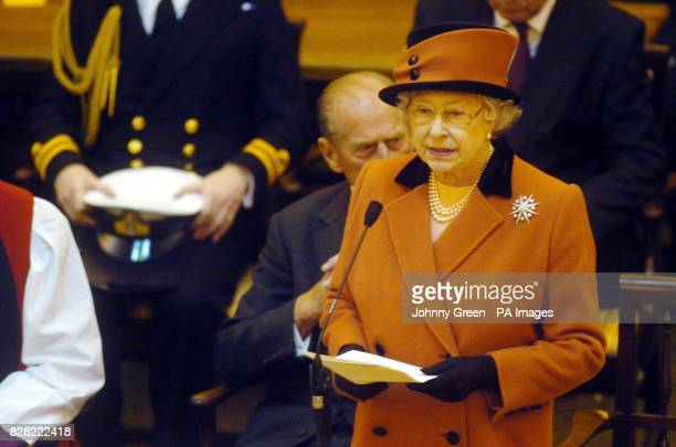 Britain's Queen Elizabeth II delivers a speech at the Inauguration of the Eighth General Synod of the Church of England held at Church House in...