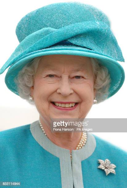 Britain's Queen Elizabeth II during her visit to the Royal Horticultural Society Garden at Wisley Surrey where she officially opened The Glasshouse...