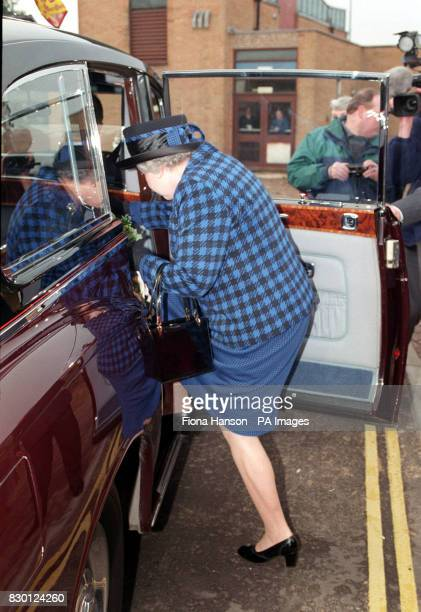 Britain's Queen Elizabeth II leaving the Queen Elizabeth Hospital in Kings Lynn Norfolk after officially opening the new 35 million Day Surgery Centre