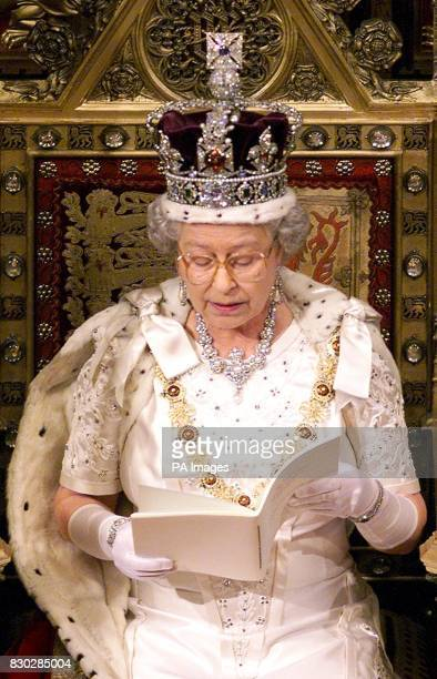 Britain's Queen Elizabeth II makes her speech during the State Opening of Parliament in the House of Lords in London The Queen's speech outlined what...