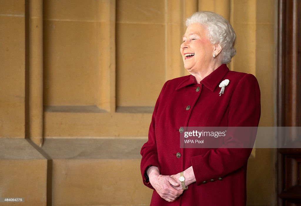 Britain's Queen <a gi-track='captionPersonalityLinkClicked' href=/galleries/search?phrase=Elizabeth+II&family=editorial&specificpeople=67226 ng-click='$event.stopPropagation()'>Elizabeth II</a> reacts as she bids farewell to Irish President Michael D. Higgins and his wife Sabina (not pictured) at the end of their official visit at Windsor Castle on April 11, 2014 in Windsor, United Kingdom. Ireland's Michael D. Higgins is making the first state visit by a president of the republic since it gained independence from neighbouring Britain. The visit comes three years after Queen <a gi-track='captionPersonalityLinkClicked' href=/galleries/search?phrase=Elizabeth+II&family=editorial&specificpeople=67226 ng-click='$event.stopPropagation()'>Elizabeth II</a> made a groundbreaking trip to the republic, which helped to heal deep-rooted unease and put British-Irish relations on a new footing.