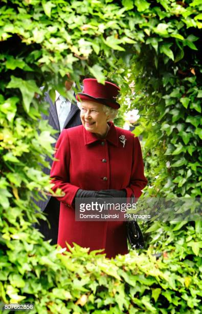 Britain's Queen Elizabeth II tours the gardens at Capel Manor College in Enfield Middlesex where she opened the Queen Elizabeth Queen Mother...
