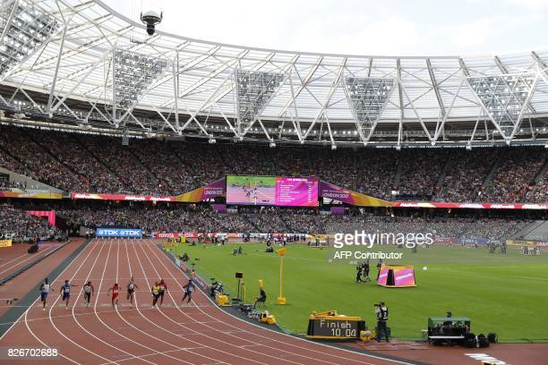Britain's Reece Prescod and Jamaica's Yohan Blake qualify in the semifinals of the men's 100m athletics event at the 2017 IAAF World Championships at...