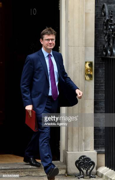 Britain's Secretary of State for Business Energy and Industrial Strategy Greg Clark departs Downing Street after a Cabinet meeting in London United...