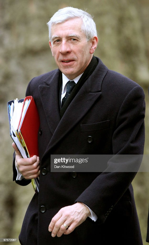 Britain's Secretary of State for Justice <a gi-track='captionPersonalityLinkClicked' href=/galleries/search?phrase=Jack+Straw&family=editorial&specificpeople=118608 ng-click='$event.stopPropagation()'>Jack Straw</a> arrives for the weekly cabinet meeting at Downing Street on March 9, 2010 in London, England. A poll released today suggests that Labour and the Conservatives have almost equal support in the key marginal seats to be fought in the General Election.