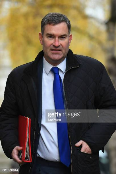 Britain's Secretary of State for Work and Pensions David Gauke arrives at Downing Street for the weekly cabinet meeting London on November 28 2017