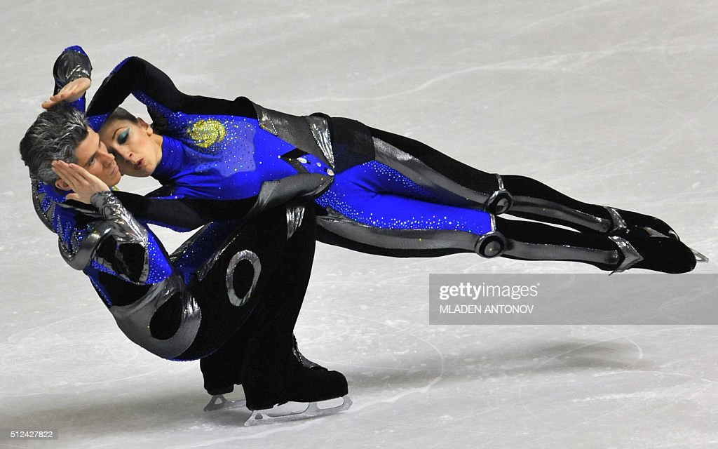 Britain's Sinead and John Kerr perform their free dance at the Dom Sportova Arena in Zagreb 25 January 2008 during the European Figure Skating...