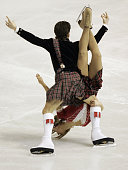 Britain's Sinead and John Kerr perform their original dance at the Dom Sportova Arena in Zagreb 24 January 2008 during the European Figure Skating...