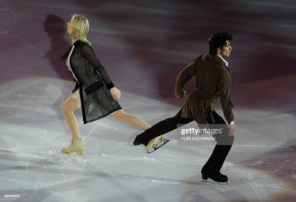 Britain's Sinead Kerr and John Kerr perform during the exhibition gala of the World Figure Skating Championships on March 28, 2010 at the Palavela ice-rink in Turin.